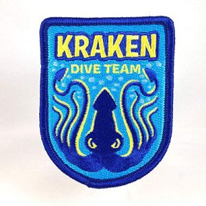 Monsterologist Airsoft Morale Patch 1 Kraken Dive Team Embroidered Patch | Cryptozoology Paranormal Monster Iron-On Military Morale Badge