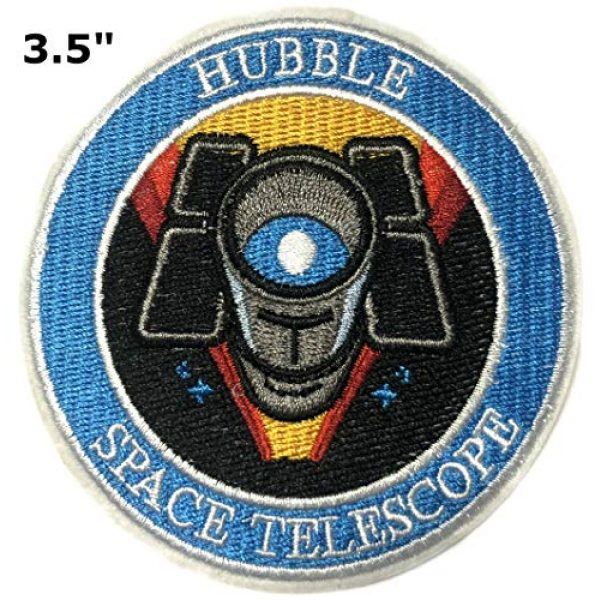 """Appalachian Spirit Airsoft Morale Patch 2 Hubble Telescope NASA Theme 3.5"""" Embroidered Patch DIY Iron-on or Sew-on Decorative Applique Space Explorer Planets Rocket Shuttle Astronaut Mission Control Stargazer Telescope Series"""