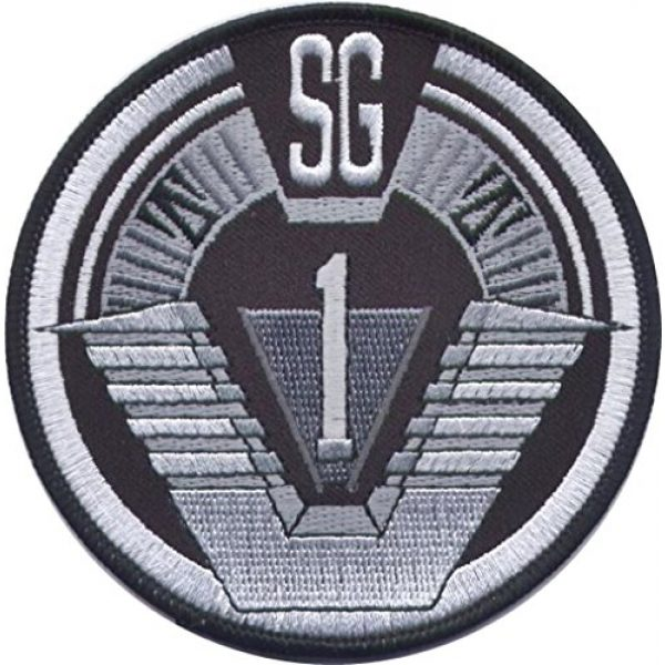 """Unknown Airsoft Morale Patch 1 Stargate SG1 Group 1 Full Size Logo Shoulder 3 7/8"""" Wide Embroidered Patch"""