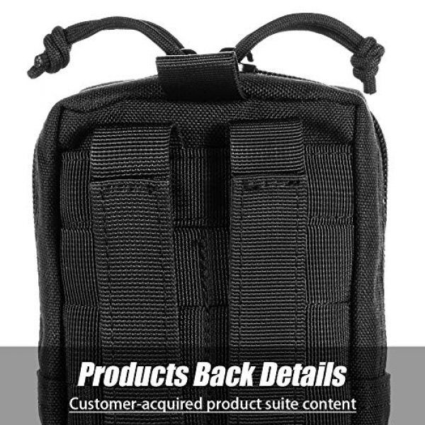 BENYANG Tactical Pouch 7 Molle Gear Pouches,Tactical Military Back Pouch,Molle Attachments Waterproof Small Utility Pouch