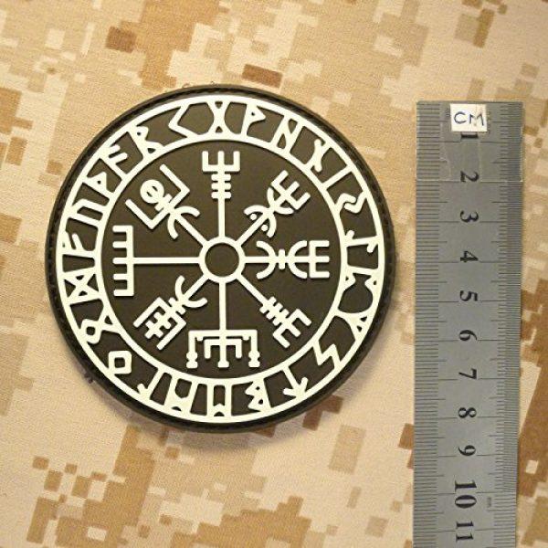 LEGEEON Airsoft Morale Patch 6 LEGEEON Glow Dark Vegvisir Viking Compass Norse Rune Morale Tactical PVC Rubber 3D Fastener Patch