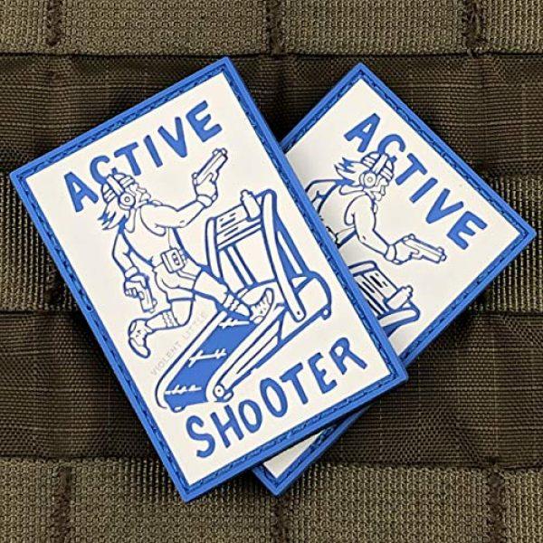 Violent Little Machine Shop Airsoft Morale Patch 4 Active Shooter PVC Morale Patch by Violent Little Machine Shop - Tactical Velcro