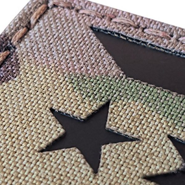Tactical Freaky Airsoft Morale Patch 5 Multicam Infrared IR Puerto Rico Cuba Flag 3.5x2 IFF Tactical Morale Fastener Patch