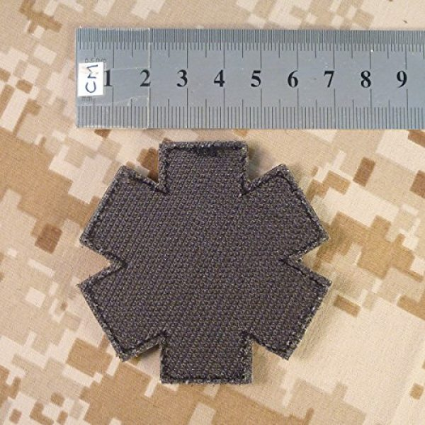 LEGEEON Airsoft Morale Patch 5 EMS EMT Medic Paramedic Star of Life AOR1 Desert DCU Arid Mud Morale PVC Fastener Patch
