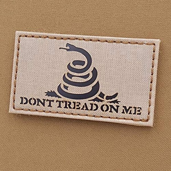 Tactical Freaky Airsoft Morale Patch 1 IR Gadsden Flag Desert Sand America DTOM Dont Tread On Me Snake Tan ArmyTactical Morale Hook-and-Loop Patch