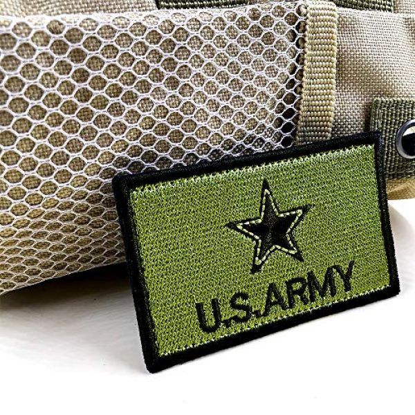 JumpyFire Airsoft Morale Patch 4 JumpyFire Stars USA Army Velcro Patch, 2 PCS Embroidered Military Morale Patches for Backpack Hat Jacket Jeans Uniform