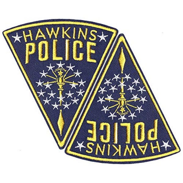 Ebateck Airsoft Morale Patch 2 Ebateck Hawkins Police Patch, 2 Pack, Stranger Things Badge Morale Patches