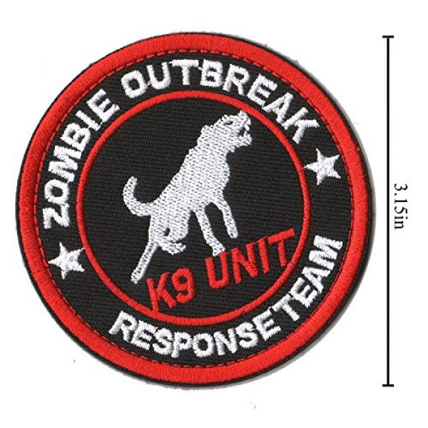 WZT Airsoft Morale Patch 3 WZT 6 Pieces Service Dog Working Do Not Touch Military Tactical Morale Badge Hook & Loop Fastener Patch
