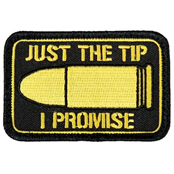 """Violent Little Machine Shop Airsoft Morale Patch 1 """"Just The Tip I Promise"""" Morale Patch by Violent Little - Embroidered Velcro"""
