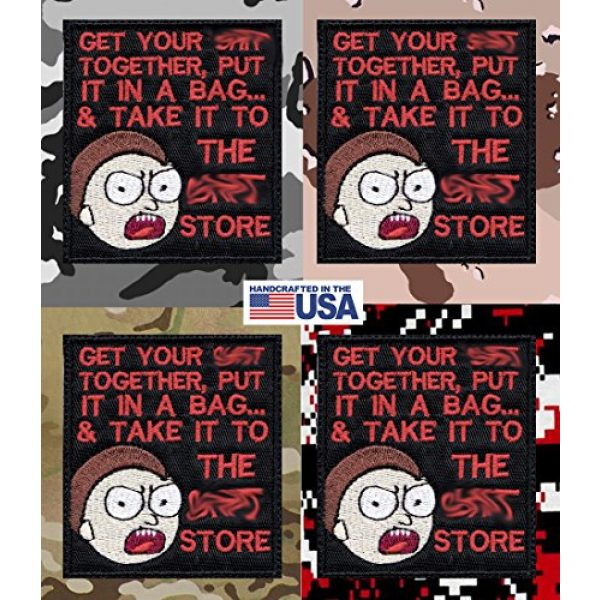 Tactical Patch Works Airsoft Morale Patch 4 Morty Sh-t Pack Your Sh-t Put It In A Bag Patch