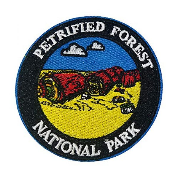 """Appalachian Spirit Airsoft Morale Patch 1 Petrified Forest National Park 3"""" Embroidered Patch DIY Iron or Sew-on Decorative Vacation Travel Souvenir Applique Wander Nature Wildlife Hike Trek Camping Explore Mountains Stars Moon Sun Sky Trails"""