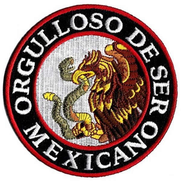 Cypress Collectibles Embroidered Patches Airsoft Morale Patch 1 Orgulloso De Ser Mexicano Embroidered Patch Proud To Be Mexican Iron-On Emblem