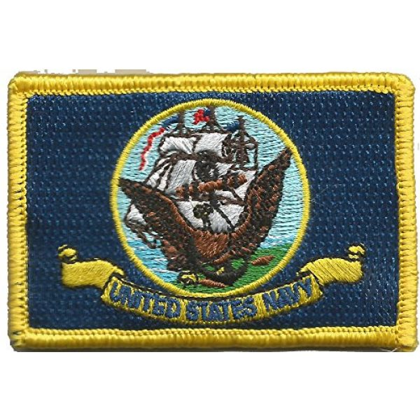 Gadsden and Culpeper Airsoft Morale Patch 2 Navy Flag Tactical Patch - Military