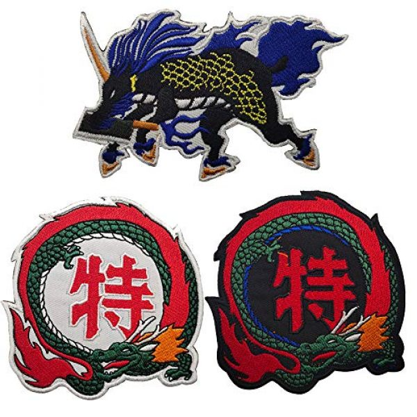 APBVIHL Airsoft Morale Patch 5 Dragon Cooking Master Chef Boy Embroidered Patches, Custom Personalized Emblem Tactical Military Morale Funny Embroidery Badges with Fastener Hook and Loop Backing