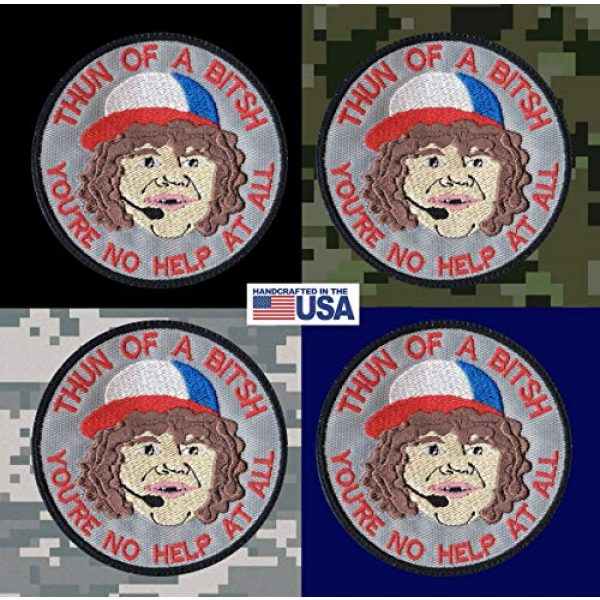 Tactical Patch Works Airsoft Morale Patch 3 Dustin Son Thun Of A Bitsh Stranger Things Inspired Art Patch