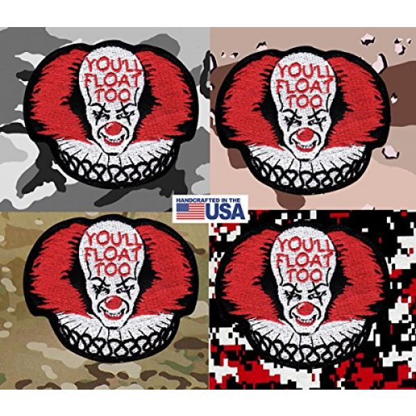 Tactical Patch Works Airsoft Morale Patch 4 IT Pennywise Inspired Art You'll Float Too Patch