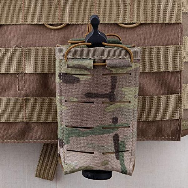 ATAIRSOFT Tactical Pouch 5 ATAIRSOFT Tactical Single MOLLE 1000D Adjustable Magazine Mag Holder Pouch Carrier for Airsoft Hunting Military Shooting