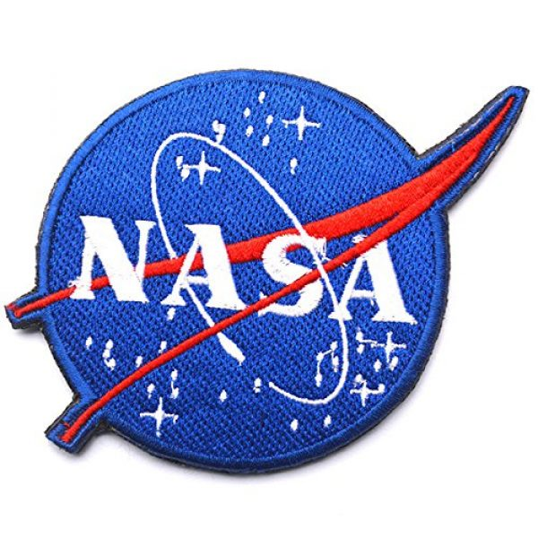 Zhikang68 Airsoft Morale Patch 1 Nasa Space Sew on Patch Morale Tactical Military Army Embroidered Patches with Hook and Loop Fasteners