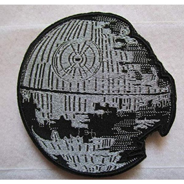 Embroidered Patch Airsoft Morale Patch 1 Star Wars Death Star 3D Tactical Patch Military Embroidered Morale Tags Badge Embroidered Patch DIY Applique Shoulder Patch Embroidery Gift Patch