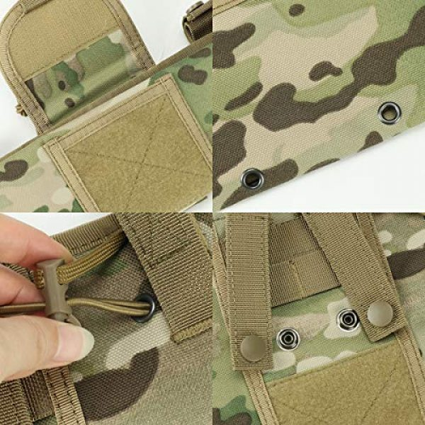 """Aoutacc Tactical Pouch 4 Aoutacc Foldable MOLLE Magazine Dump Pouch, 10""""x11.4"""" Roll-Up Pouch Folding Mag Dump Pouch Tactical Drawstring Magazine Recovery Pouch Holster Bag"""