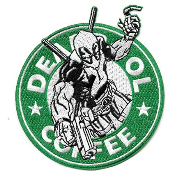USMilitaryPatch Airsoft Morale Patch 1 Deadpool Coffee Hook & Loop Morale Novelty Funny Patch