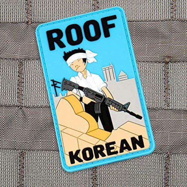 """Violent Little Machine Shop Airsoft Morale Patch 2 """"Roof Korean"""" Morale Patch by Violent Little Machine Shop - Tactical Velcro PVC"""