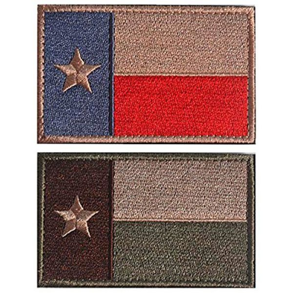 WZT Airsoft Morale Patch 1 WZT 2 Pcs Texas State Flag Patch -Tactical Morale