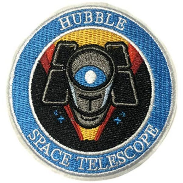 """Appalachian Spirit Airsoft Morale Patch 1 Hubble Telescope NASA Theme 3.5"""" Embroidered Patch DIY Iron-on or Sew-on Decorative Applique Space Explorer Planets Rocket Shuttle Astronaut Mission Control Stargazer Telescope Series"""