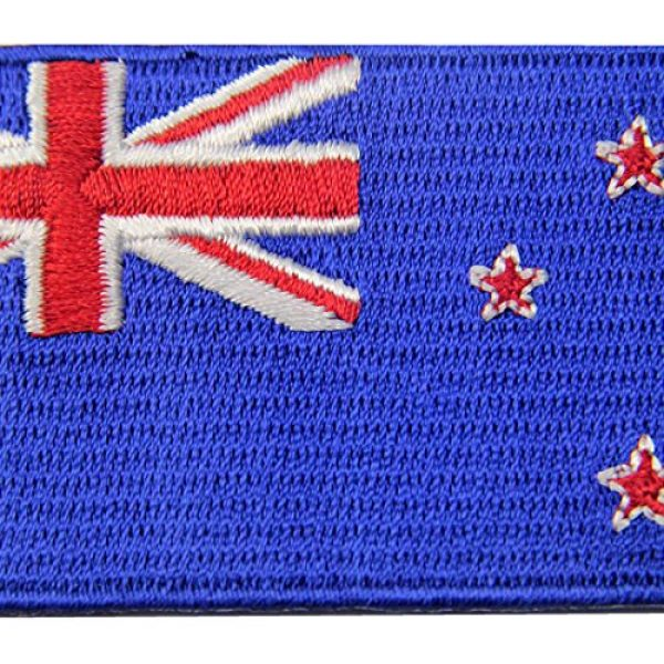 EmbTao Airsoft Morale Patch 2 New Zealand Flag Embroidered Kiwi Emblem Iron On Sew On National Patch