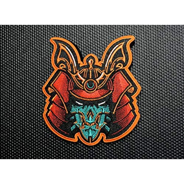 BritKitUSA Airsoft Morale Patch 1 Premium Embroidered Samurai Bot Morale Patch Hydro74 Bushido Hook and Loop Backing