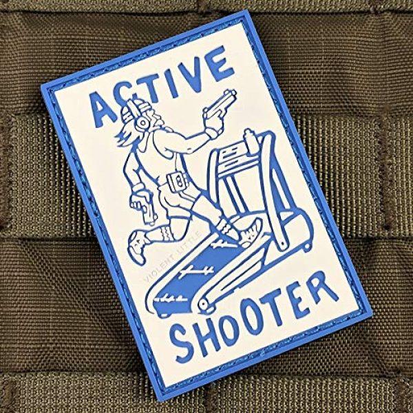 Violent Little Machine Shop Airsoft Morale Patch 2 Active Shooter PVC Morale Patch by Violent Little Machine Shop - Tactical Velcro
