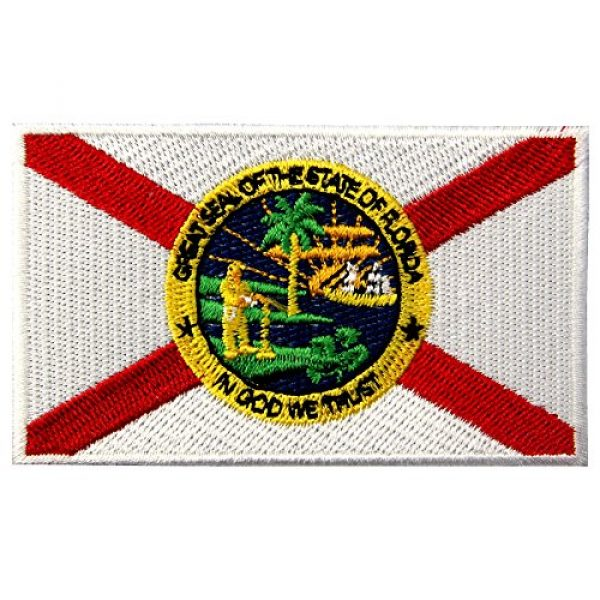 EmbTao Airsoft Morale Patch 1 EmbTao Embroidered Florida State Flag Iron On Sew On Patch FL Emblem