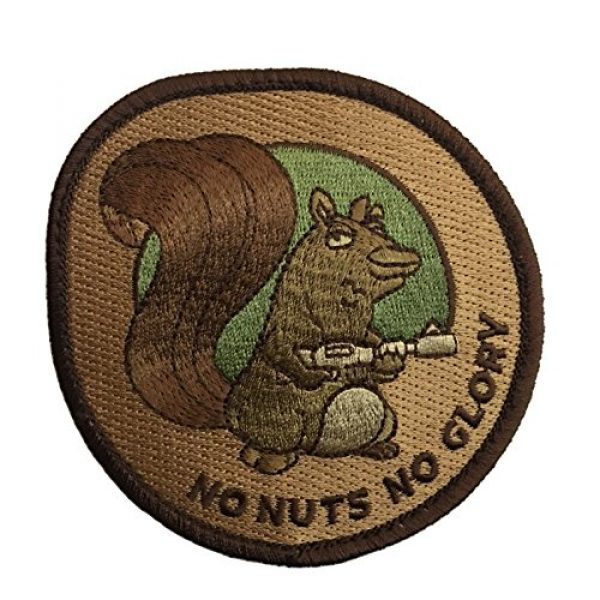 F-Bomb Morale Gear Airsoft Morale Patch 1 No Nuts No Glory Embroidered Morale Patch