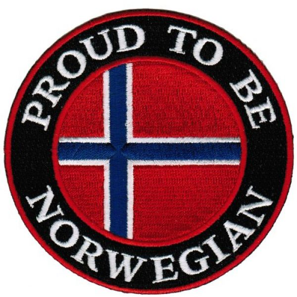 Cypress Collectibles Embroidered Patches Airsoft Morale Patch 1 Proud To Be Norwegian Embroidered Patch Norway Flag Iron-On Biker Emblem