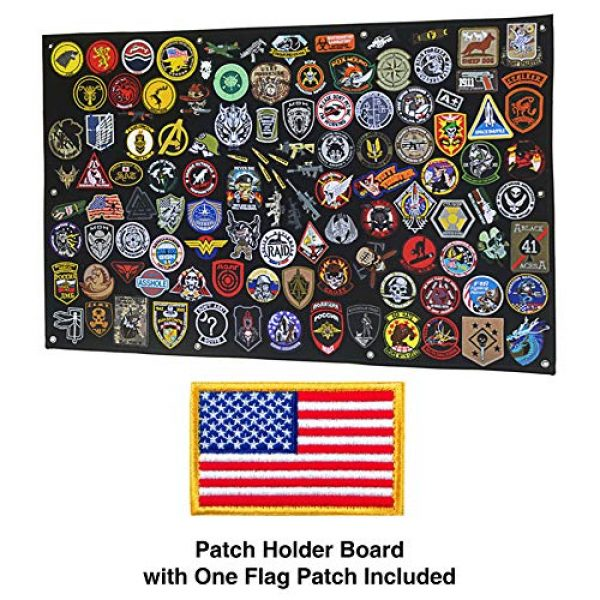 GOTAC Airsoft Morale Patch 3 Tactical Patch Display Holder Panel Board for Military Army Morale Hook and Loop Emblems, 43 Inches x 27.5 Inches, with 1 US Flag Patch Included