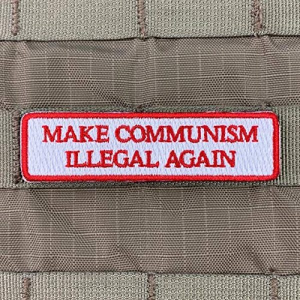 Violent Little Machine Shop Airsoft Morale Patch 2 Make Communism Illegal Again Embroidered Morale Patch