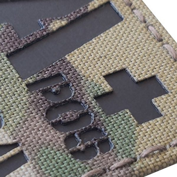 Tactical Freaky Airsoft Morale Patch 5 Multicam Infrared IR APOS NKDA A+ Blood Type 2x2 Tactical Morale Hook&Loop Patch