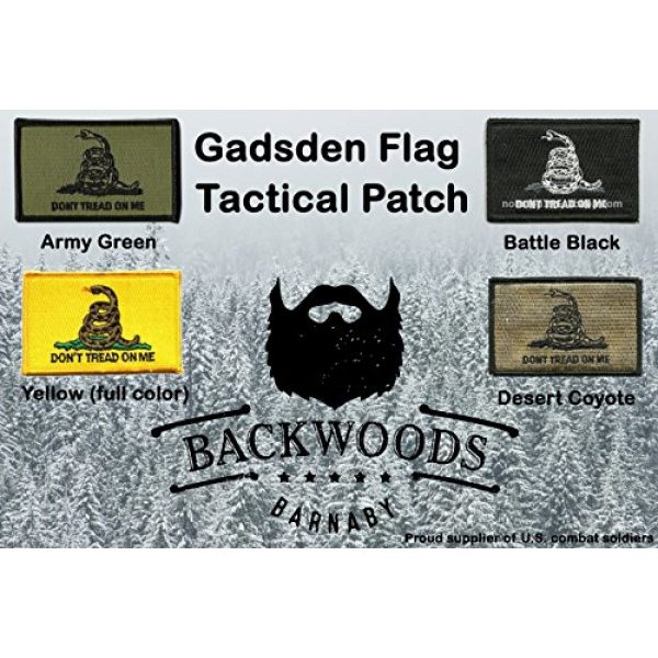 Backwoods Barnaby Airsoft Morale Patch 2 Backwoods Barnaby Gadsden Flag Don't Tread on Me Morale Patch
