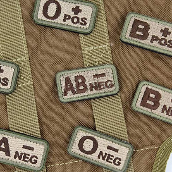 """EJG Airsoft Morale Patch 4 EJG 2-Piece Tactical Blood Type Velcro Patch, Various Styles in Embroidery & PVC, O+ O- Positive Negative, 2""""x1"""" Military Medic Navy Army Morale Patch for Tactical Gear Battle Uniform (Style 03)"""