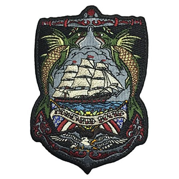 F-Bomb Morale Gear Airsoft Morale Patch 1 Homeward Bound Embroidered Morale Patch Based on The Nautical Tattoo