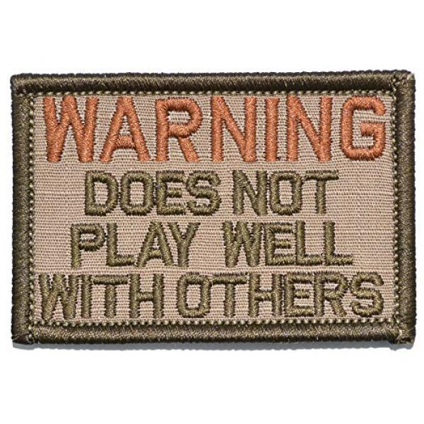 Tactical Gear Junkie Airsoft Morale Patch 1 Warning: Does Not Play Well with Others - 2x3 Patch - Coyote Brown