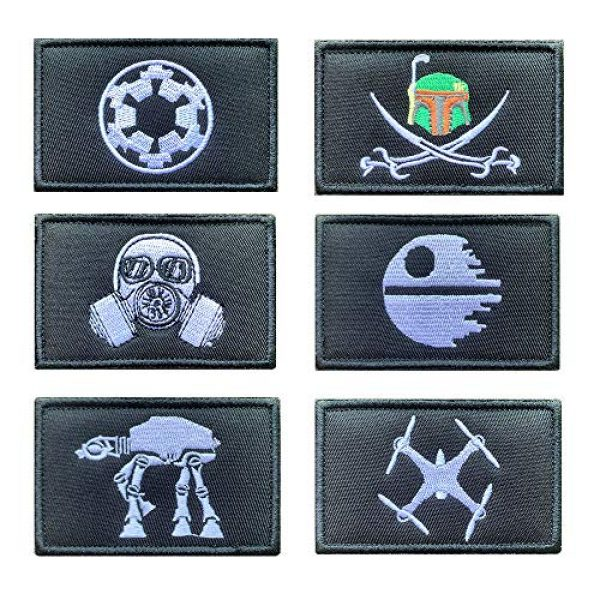 Antrix Airsoft Morale Patch 1 Antrix 6 Pieces Movie Film Galactic Empire UFO Embroidered Tactical Funny Emblem Badge Tags Patches for Kids Boys