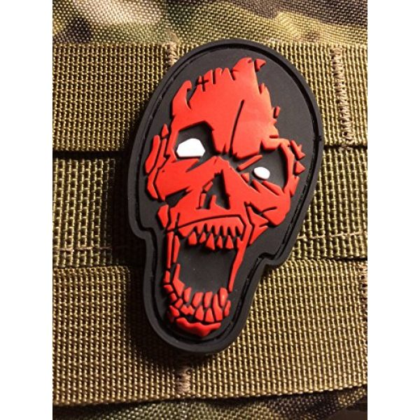 Britkit Airsoft Morale Patch 1 Us Made 3d PVC Zombie Head Patch Tactical Morale Patch