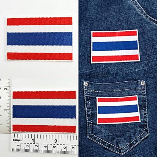 Heavens Tvcz Airsoft Morale Patch 5 Heavens Tvcz Flag Embroidered for Men Teens Women Charms Morale Patch with Hook and Loop Travel Thai Patriotic Scrapbook MC Biker Motorcycle Jeans Women Shoulder White Border Emblem