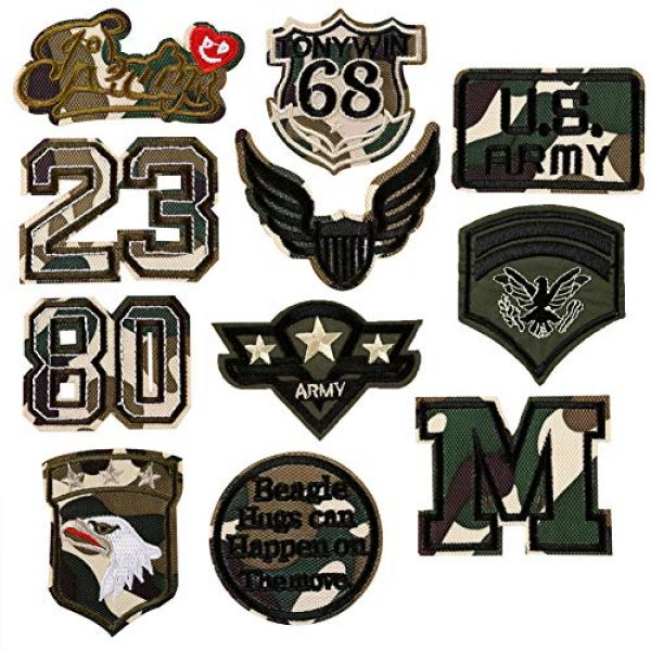 Fexo Airsoft Morale Patch 1 Tactical Military Combat Morale Patch 10 PCS Assorted US Military Patches Set for Caps, Bags, Backpacks, Tactical Vest, Military Uniforms