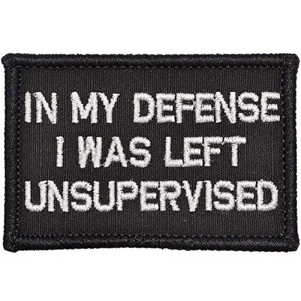 Ansellf Airsoft Morale Patch 1 in My Defense I was Left Unsupervised Patch,Tactical Military Army Gear,Tactical Combat Bagde Military Hook Embroidered Patch Set Hook/Loop Backing