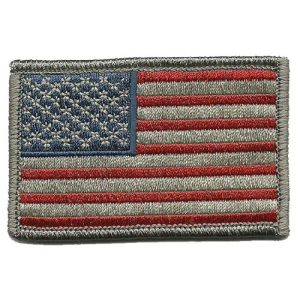 Gadsden and Culpeper Airsoft Morale Patch 1 Tactical USA Flag Patch - Subdued Silver USA by Gadsden and Culpeper