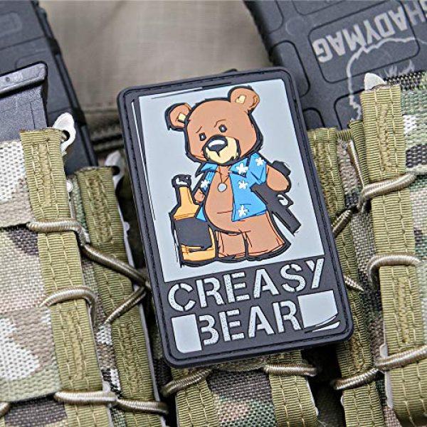 Violent Little Machine Shop Airsoft Morale Patch 5 Creasy Bear Morale Patch by Violent Little Machine Shop (Color)