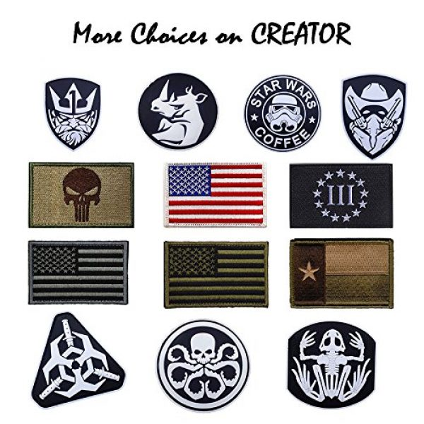 CREATOR Airsoft Morale Patch 6 CREATOR Tactical USA Flag Patch American Flag US United States of America Military Uniform Emblem Patches