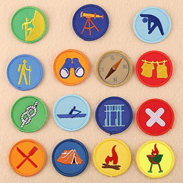Fabric Patches Airsoft Morale Patch 1 15 pcs of Wholesale Iron on Fabric Patch for Clothing Hat/Embroidered Sew on Applique Cute Patch Fabric Badge Garment DIY Apparel Accessories - Round boy Scout Patch (WFB-45) (One of Each)